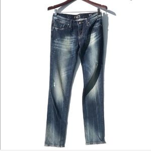 Express REROCK Skinny Distressed Denim Jeans